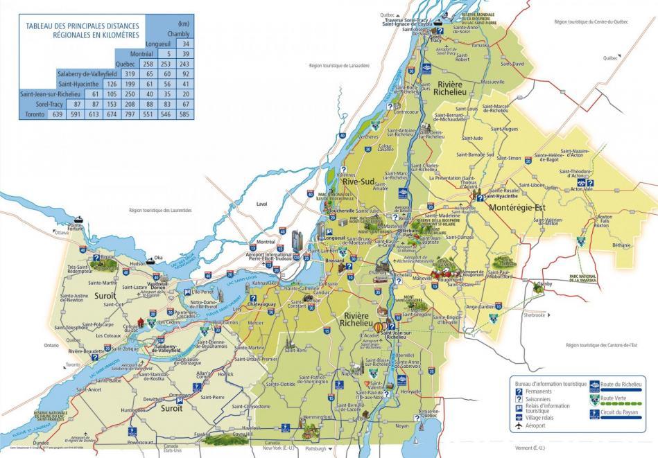 Carte monteregie