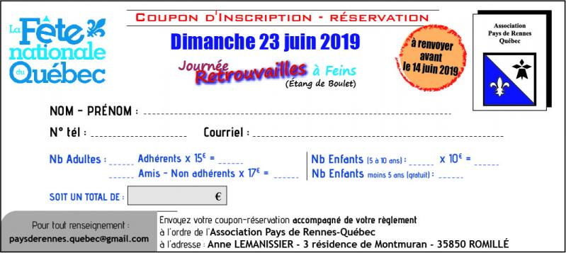 Coupon reservation 2019