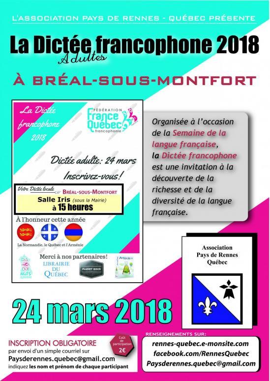 Dictee franco 2018