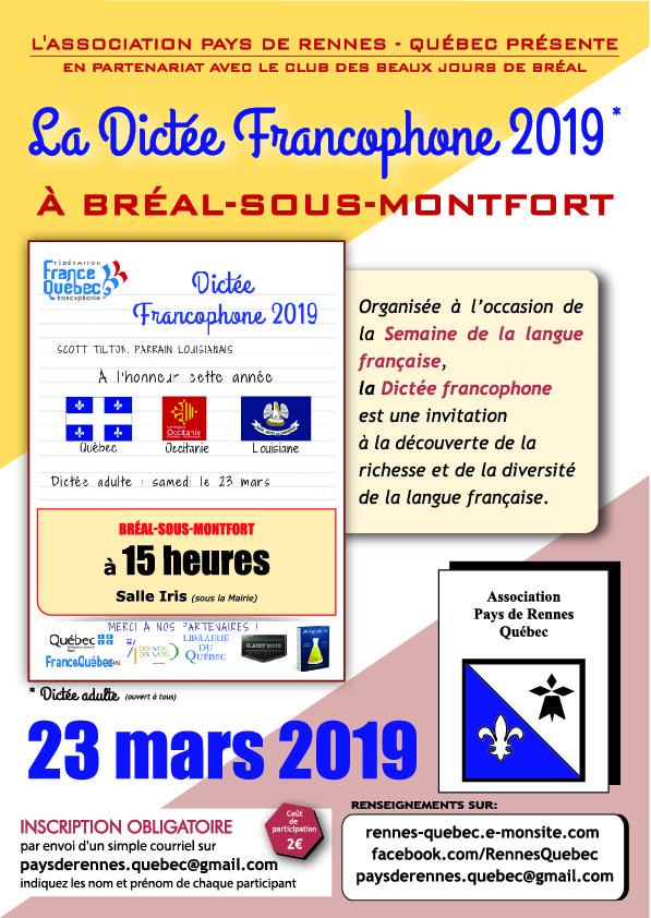 Dictee francophone 2020